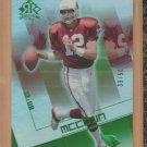 2004 UD Reflections Emerald Josh McCown Cardinals /50