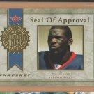 2003 Fleer Snapshot Seal of Approval Gold Eric Moulds Bills /99