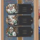 2005 Donruss Classics Timeless Triples Joe Namath Don Maynard Chad Pennington Jets /1000
