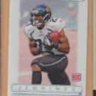 2009 Topps Platinum White Refractor Rashad Jennings Jaguars Giants RC /499