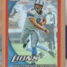 2010 Topps Chrome Orange Refractor Matthew Stafford Lions