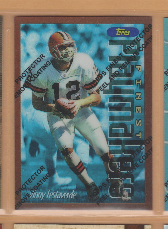 1996 Topps Finest Refractor Vinny Testaverde Browns