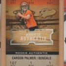 2003 Fleer Authentix Rookie Carson Palmer Bengals Cardinals RC /1250