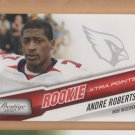 2010 Playoff Prestige Red Andre Roberts Cardinals RC /100