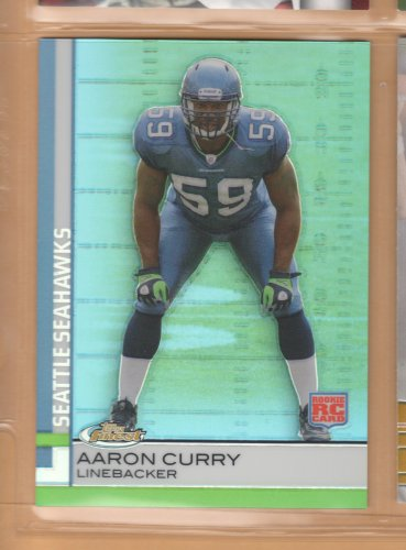 2009 Topps Finest Rookie Refractor Aaron Curry Seahawks RC /429
