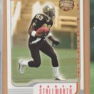 2002 Fleer Focus Rookie Jersey Numbers Donte Stallworth Saints RC /83