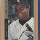 1993 Fleer Team Leaders Frank Thomas White Sox