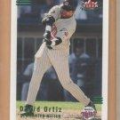 2002 Fleer Triple Crown Batting Average Parallel David Ortiz Red Sox /234