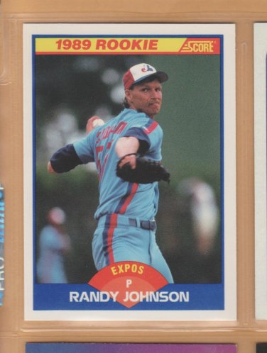 1989 Score Rookie Randy Johnson Expos RC
