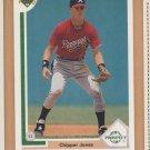 1991 Upper Deck Rookie Chipper Jones Braves RC