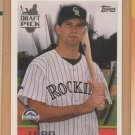 1996 Topps Rookie Todd Helton Rockies