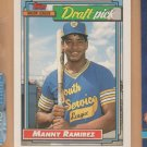 1992 Topps Rookie Manny Ramirez Indians Red Sox RC