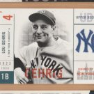 2001 UD Legends of New York #111 Lou Gehrig Yankees