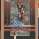 2003-04 Upper Deck Rookie Exclusives Carmelo Anthony Nuggets RC