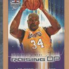 2002-03 Fleer Hoops Stars Raising Up Shaquille O'Neal Lakers
