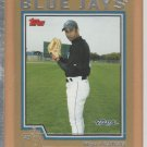2004 Topps Traded Gold Rookie Miguel Batista Blue Jays RC /2004