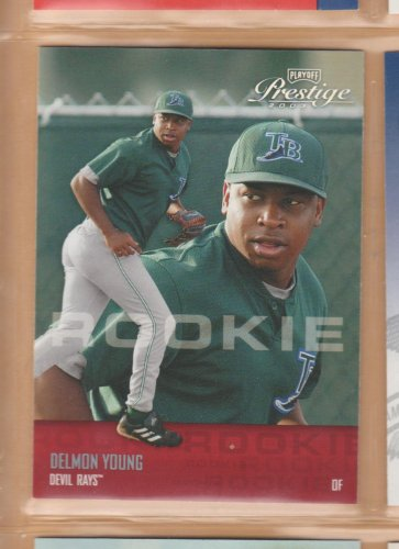 2003 Playoff Prestige Rookie Delmon Young Devil Rays RC