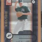 2001 Donruss Elite Rookie Aubrey Huff Devil Rays RC /1000