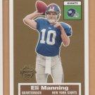 2005 Topps Turn Back the Clock #17 Eli Manning Giants