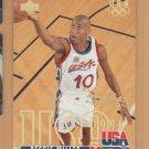 1995-96 Upper Deck Electric Court Gold Reggie Miller Team USA Pacers