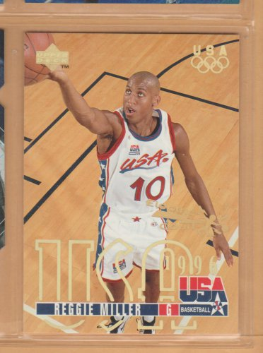 1995-96 Upper Deck Electric Court Gold Reggie Miller Team USA Pacers