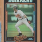2005 Topps Chrome Update & Highlights Black Refractor Eli Marrero Orioles /250