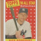 2007 Topps Heritage All Star #481 Alex Rodriguez Yankees