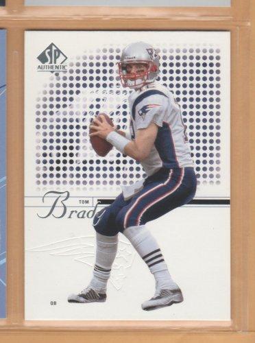 2002 Upper Deck SP Authentic Tom Brady Patriots