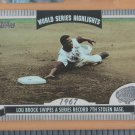 2004 Topps World Series Highlights Lou Brock Cardinals