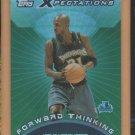 2001-02 Topps Xpectations Forward Thinking Kevin Garnett Timberwolves