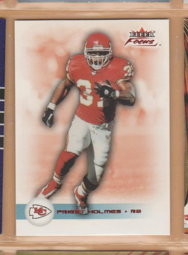 2003 Fleer Focus Numbers Century Red Priest Holmes Chiefs /100