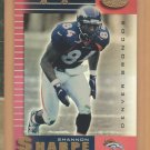 1999 Leaf Certified Mirror Red Shannon Sharpe Broncos