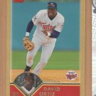 2003 Topps Gold David Ortiz Twins Red Sox /2003