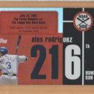 2007 Topps Alex Rodriguez Road to 500 #ARHR216 Alex Rodriguez Yankees