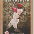 2001 Topps Noteworthy Ken Griffey Jr Reds