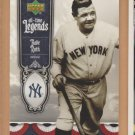 2006 Upper Deck All-Time Legends Babe Ruth Yankees