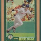 2001 Topps Chrome Retrofractor Refractor Rico Brogna Red Sox