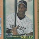 2001 Topps Chrome Traded Retrofractor Refractor Roberto Kelly Rockies