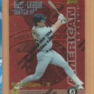 1997 Topps Inter-League Matchup Finest Mark McGwire Athletics Cardinals Barry Bonds Giants