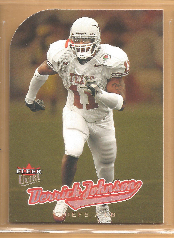 2005 Fleer Ultra Gold Medallion Rookie Derrick Johnson Chiefs RC