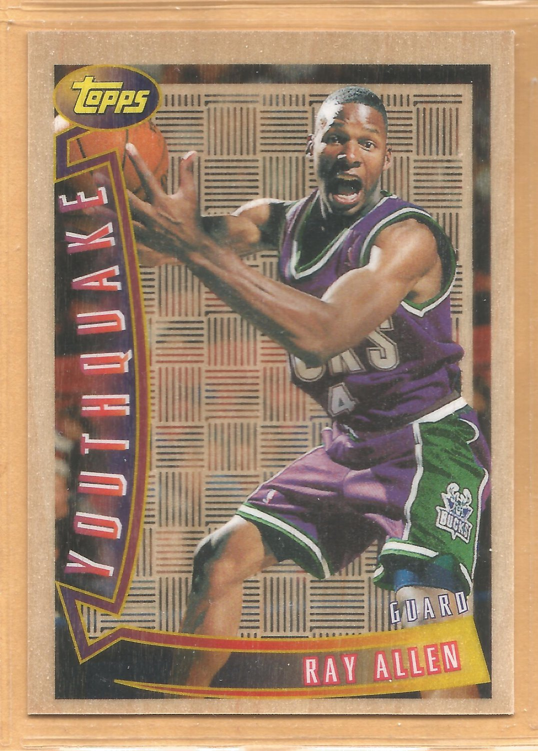 1996-97 Topps Youthquake #YQ9 Ray Allen RC Bucks Rookie