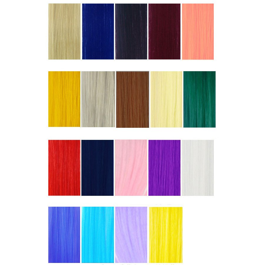 Fashion Candy Color Hair Extension,OP37374,yellow,one size