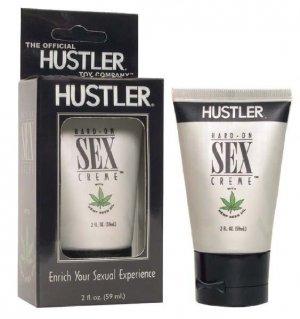 Hard-On Sex Crème with Hemp Seed Oil, 2 oz.