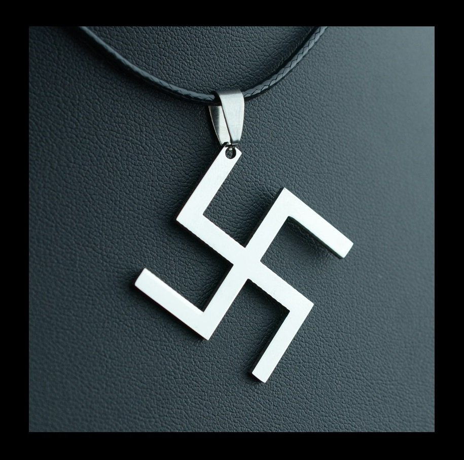WW2 Swastika Nazi Germany German Stainless Steel Pendant