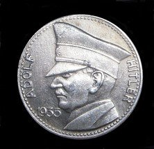 1935 WW2 GERMAN ADOLF HITLER COMMEMORATIVE MEDAL COIN