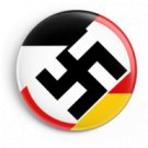WW2 Nazi Germany 3 Flags Swastika Lapel Pin Button.
