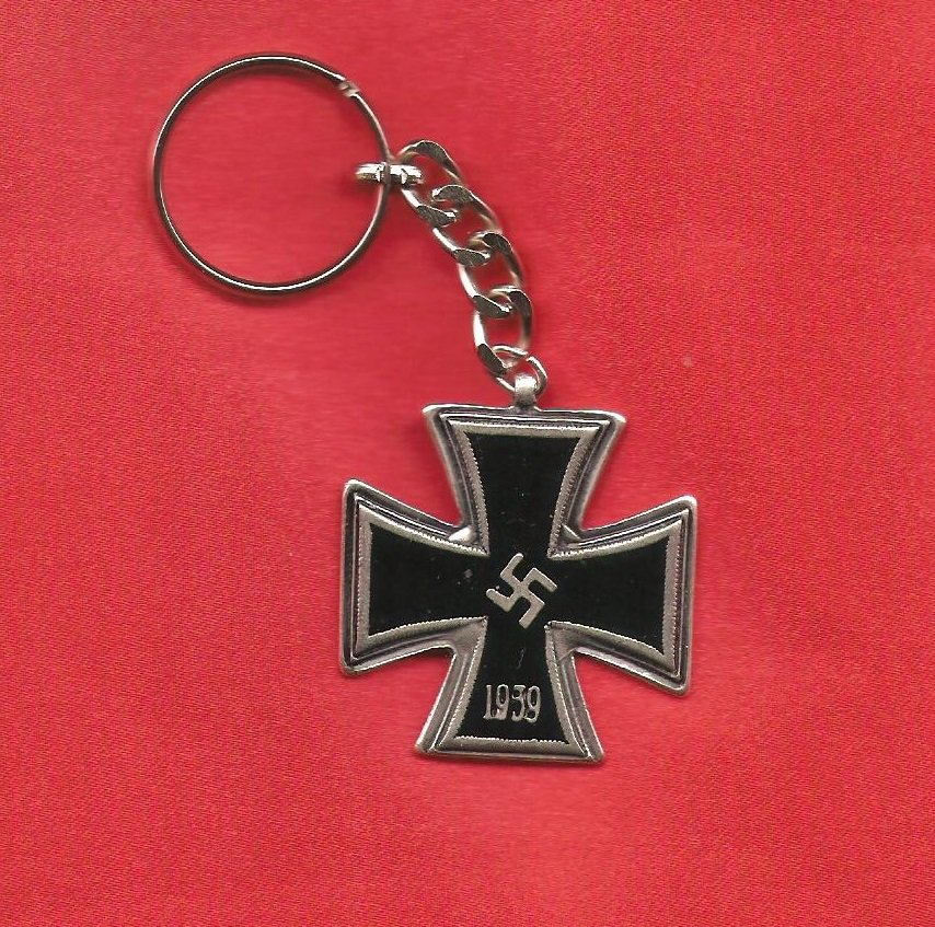 WW2 nazi Germany 1939 Swastika Iron Cross Keychain