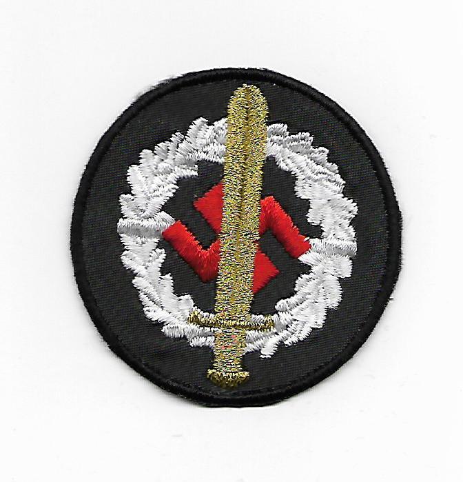 WW2 Nazi Germany Sword and Swastika Award Saw on Patch
