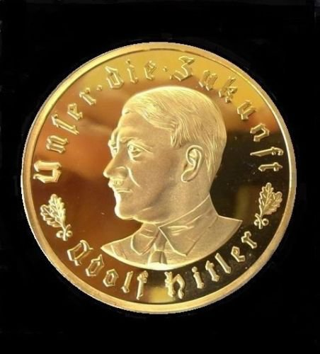 NEW 1933 WW2 Nazi Germany Adolf Hitler Swastika Commemorative Coin Medal