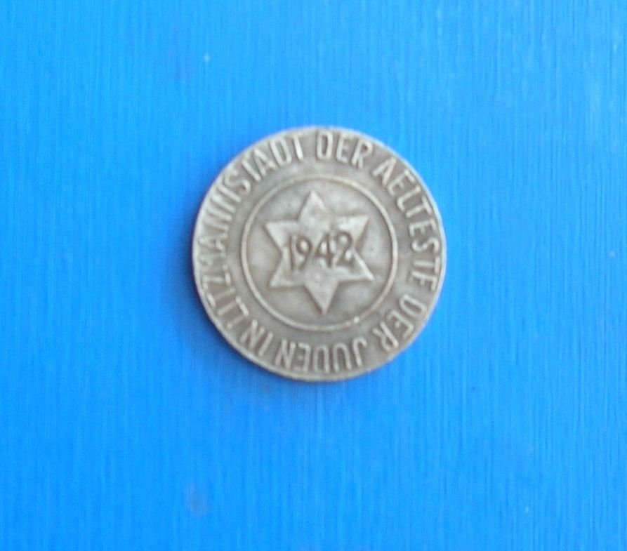 1942 Nazi Germany Ghetto Poland 10 Pfenning Currency Getto Coin by Jewish Community